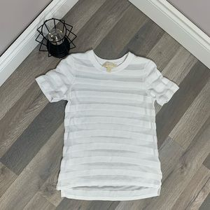 Michael Kors Sheer Short Sleeve Shirt